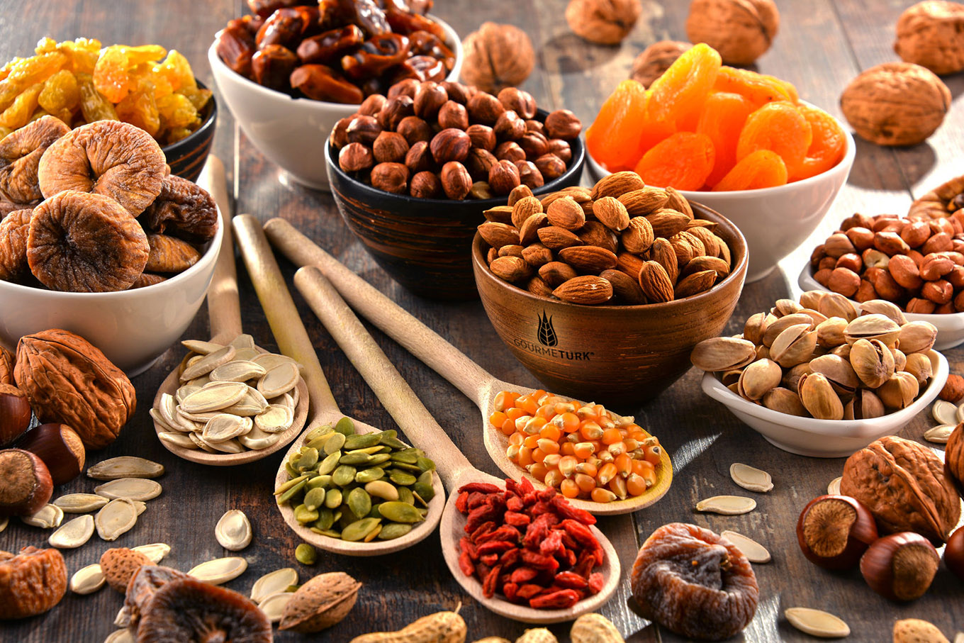 gourmeturk dried fruits, nuts and spices